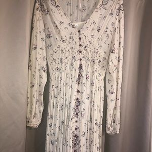 Free People mid/maxi floral long sleeve dress